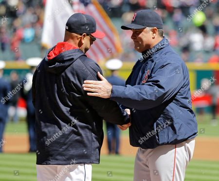 John Farrell, Terry Francona Cleveland Indians manager Terry Francona, left, and Boston Red Sox manager John Farrell shake hands before a baseball game, in Cleveland