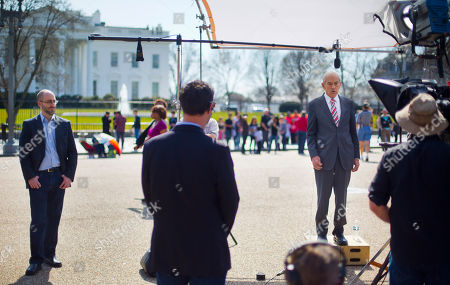 Stock Image of Ron Paul Former Texas Rep. Ron Paul during the filming of a commercial outside the White House in Washington