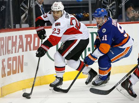 Editorial picture of Senators Islanders Hockey, New York, USA