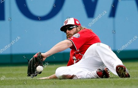 Jayson Werth Washington Nationals left fielder Jayson Werth can't catch a ball hit by Minnesota Twins' James Beresford during the fifth inning of an exhibition baseball game at Nationals Park, in Washington