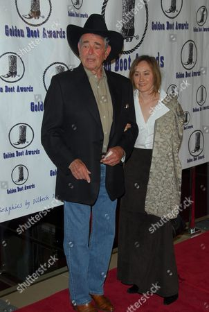 Stock Photo of Stuart Whitman and wife Julia