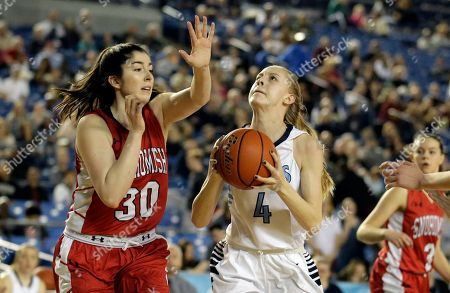 Hailey Christopher Central Valley's Hailey Christopher (4) puts up a shot against Snohomish's Madeline Smith (30) in the second half of the Washington state girls 4A high school basketball championship, in Tacoma, Wash. Central Valley beat Snohomish 57-48