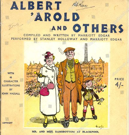 "Cover of book ""Albert 'Arold and Others"" by Marriott Edgar, artist John Hassall"