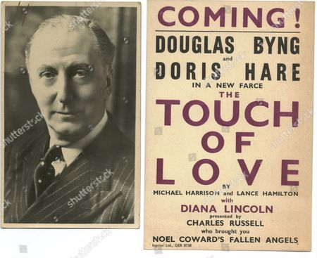 Theatre advertisement for The Touch of Love with Douglas Byng 1893-1987, and Doris Hare circa 1938