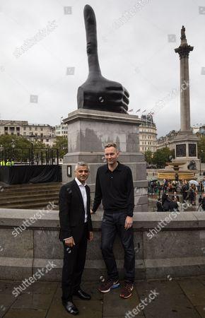Sadiq Khan and David Shrigley unveiling 'Really Good'