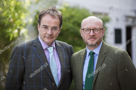 L to R Daily Mail parliamentary sketch writer and theatre critic Quentin Letts and Labour MP Liam Byrne.