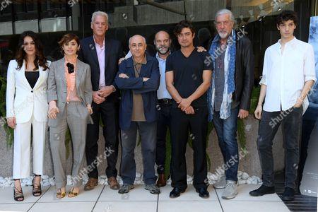 The director Roberto Faenza and cast Valentina Lodovini, Greta Scarano, Riccardo Scamarcio, Shel Shapiro, Tommaso Lazotti