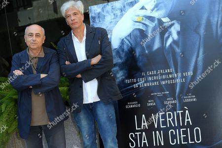 The director Roberto Faenza with Pietro Orlandi