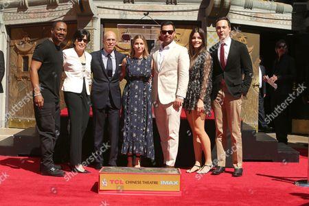 Eddie Murphy, Marilyn Katzenberg, Jeffrey Katzenberg, Laura Katzenberg, David Katzenberg, Stellina Bickers, Jim Parsons