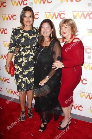 Mariska Hargitay, Regina K. Scully and Pat Mitchell