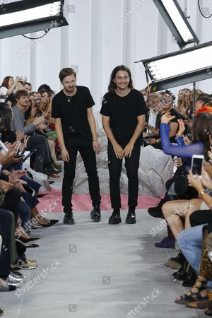 Adrien Caillaudaud and Alexis Martial on the catwalk