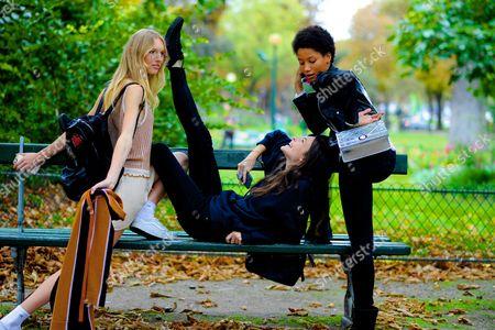 Editorial photo of Street Style, Spring Summer 2017, Paris Fashion Week, France - 29 Sep 2016
