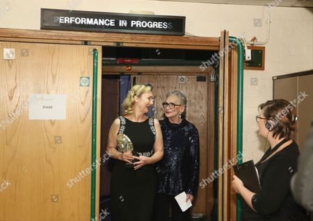 Sian Grigg with Sian Phillips