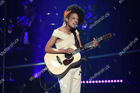 Stock Photo of Kizzy Crawford performs