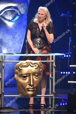 Stock Photo of Siobhan Logue collects Factual Series Award for 'Music for Misfits: The Story of Indie'