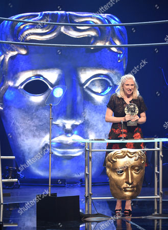 Siobhan Logue collects Factual Series Award for 'Music for Misfits: The Story of Indie'