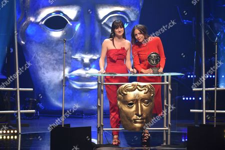 Stock Photo of Sara Lloyd-Gregory and Catrin Stewart present Short Film Award