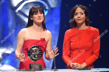 Sara Lloyd-Gregory and Catrin Stewart present Special Achievement in Film/Television Film