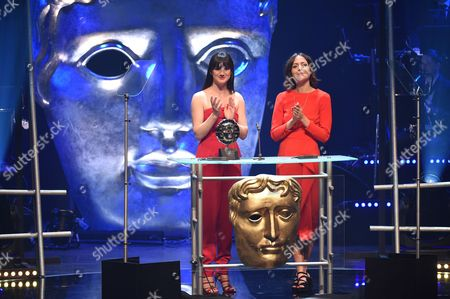 Stock Picture of Sara Lloyd-Gregory and Catrin Stewart present Special Achievement in Film/Television Film