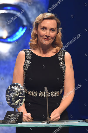 Sian Grigg collects the Sian Phillips Award