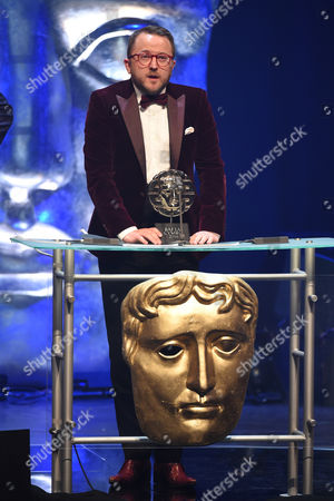 Stock Image of Tim Rhys-Evans collects the Single Documentary Award for Tim Rhys Evans - All in the Mind