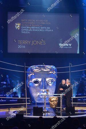 Michael Palin presents The Lifetime Achievement Award to Terry Jones