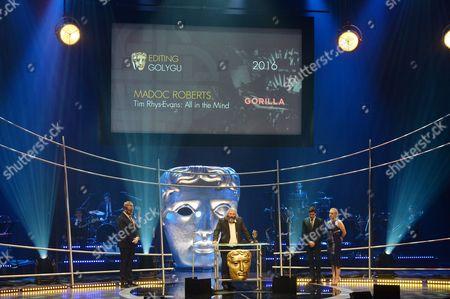 Madoc Roberts collects the Editing Award