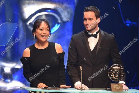 Citation readers Naoko Mori and Gareth David-Lloyd present Television Drama Award
