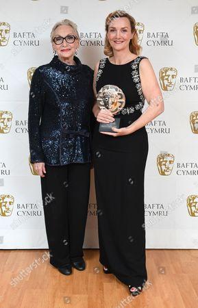Sian Phillips with Sian Grigg winner of Sian Phillips award