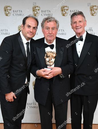 Bill Jones and Michael Palin with Terry Jones winner of Outstanding Contribution To The Film And Television Award