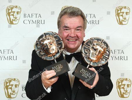 Hefin Owen winner of Entertainment Programme award for Les Miserables - Y Daith i'r Llwayfan and Live Outside Broadcast Award for Cor Cymru: Y Rownd Derfynol - Rondo