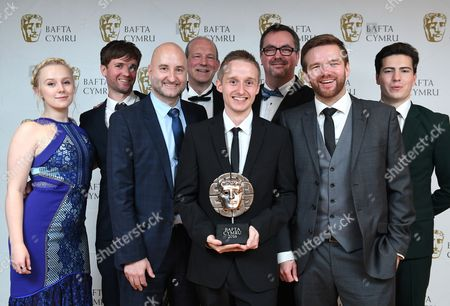 Alexa Davies and Jacob Ifan with Bang Post Production winners of Sound Award for Mr Calzaghe - Western Edge Pictures, Gennaker Group