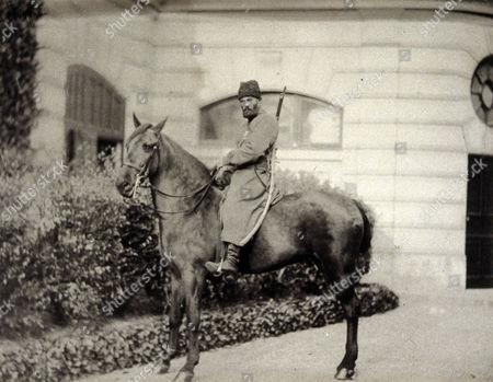 Cossack on horseback, photograph, 1889, taken in Siberia for Les Voyages du Prince Henri d'Orléans (Henri Philippe Marie Prince d' Orleans)