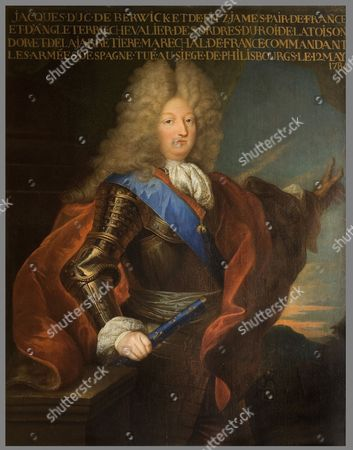 James FITZJAMES, 1st Duke of BERWICK, 1670-1734, painting, illegitimate son of King James II, soldier, after his father's exile he joined the French army and after many successes became Marshall of France in 1706 (Hyacinthe Rigaud)