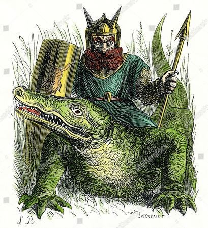 Zaebos grand count underworld soldier riding crocodile Foto editorial en  stock; Imagen en stock   Shutterstock