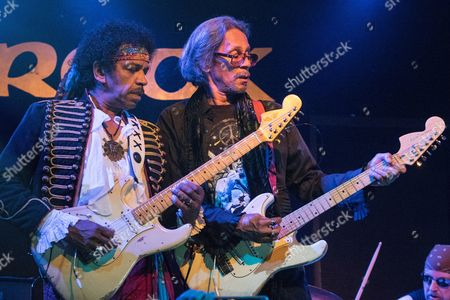 "Stock Photo of Leon Hendrix at the Brook Southampton on his last night touring with ""Are You Experienced"" with John Campbell (lead guitar)"