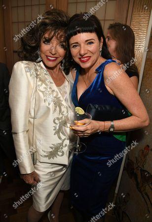 Dame Joan Collins and Tara Newley