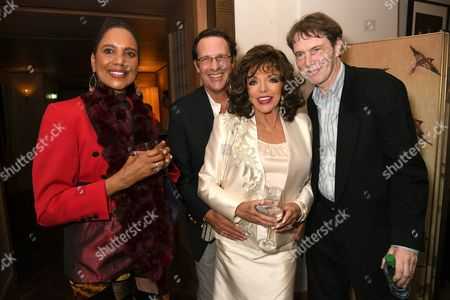 Hazel Collins, Percy Gibson, Dame Joan Collins and Bill Collins