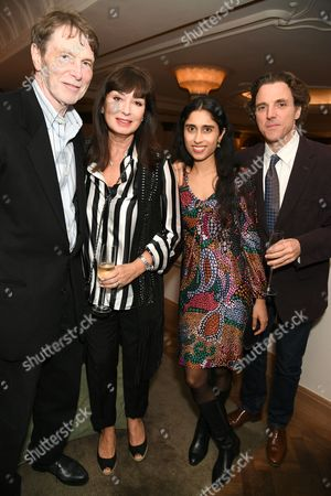 Bill Collins, guest, Sheeka Raman and Sasha Anthony Newley