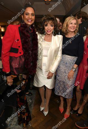 Hazel Collins, Dame Joan Collins and Glynis Barber