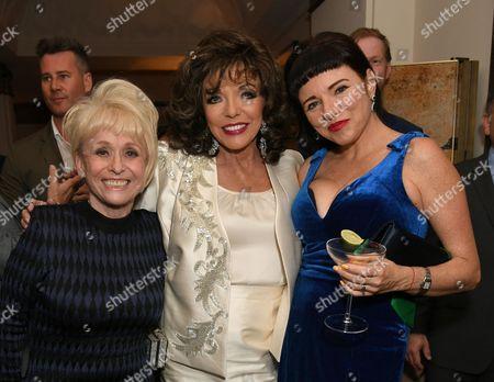 Dame Barbara Windsor, Dame Joan Collins and Tara Newley