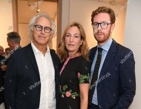 Stock Picture of Eric Fischl, Bona Colonna Montagu and Nicholas Cullinan