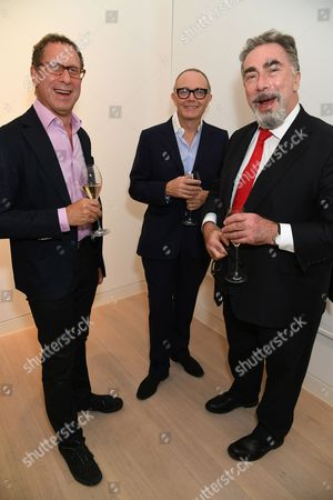 Tom Croft (middle) with guests