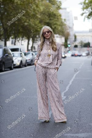 Editorial picture of Street Style, Spring Summer 2017, Paris Fashion Week, France - 30 Sep 2016