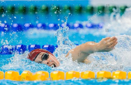 Stock Picture of Ellie Robinson of Great Britain competes in the Swimming Women's 100m Freestyle - S6 Final