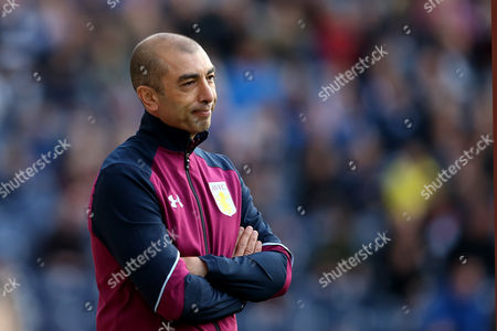 Aston Villa manager Roberto Di Matteo shows a look of dejection during the SKY BET Championship match between Preston North End and Aston Villa played at Deepdale, Preston on 1st October 2016