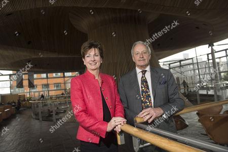 Stock Photo of UKIP Leader Diane James with UKIP Assembly group leader Neil Hamilton