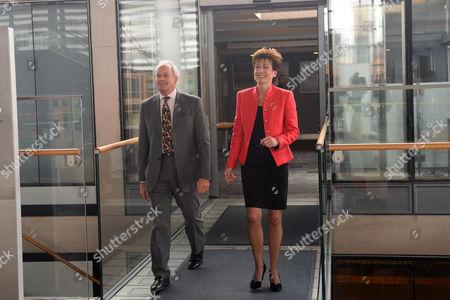 UKIP Leader Diane James with UKIP Assembly group leader Neil Hamilton