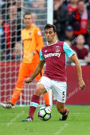 Alvaro Arbeloa of West Ham United in action during the game