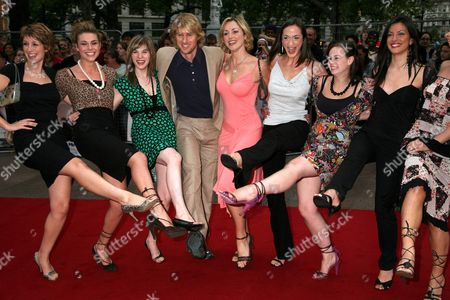 Owen Wilson with the girls from 'How do you solve a problem like Maria' programme - Connie Fisher, Siobhan Dillon, Abi Finley, Owen Wilson, Aoife Mulholland, Helena Blackman, Leanne Dobinson and Meliz Serman